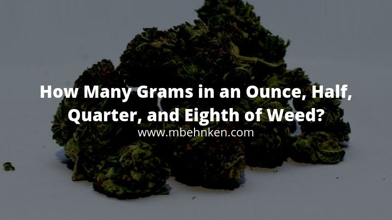 How Many Grams in an Ounce, Half, Quarter, and Eighth of Weed?