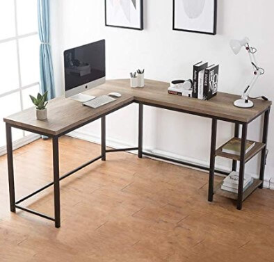 FurniChoi L-Shaped Computer Desk
