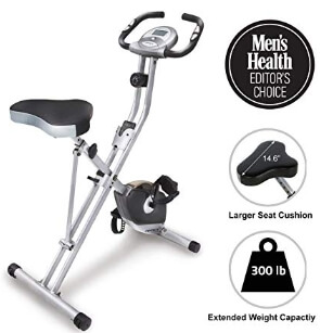 Exerpeutic Folding Magnetic Upright Exercise Bike